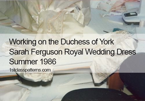 Sarah Ferguson Wedding Dress Embroidery