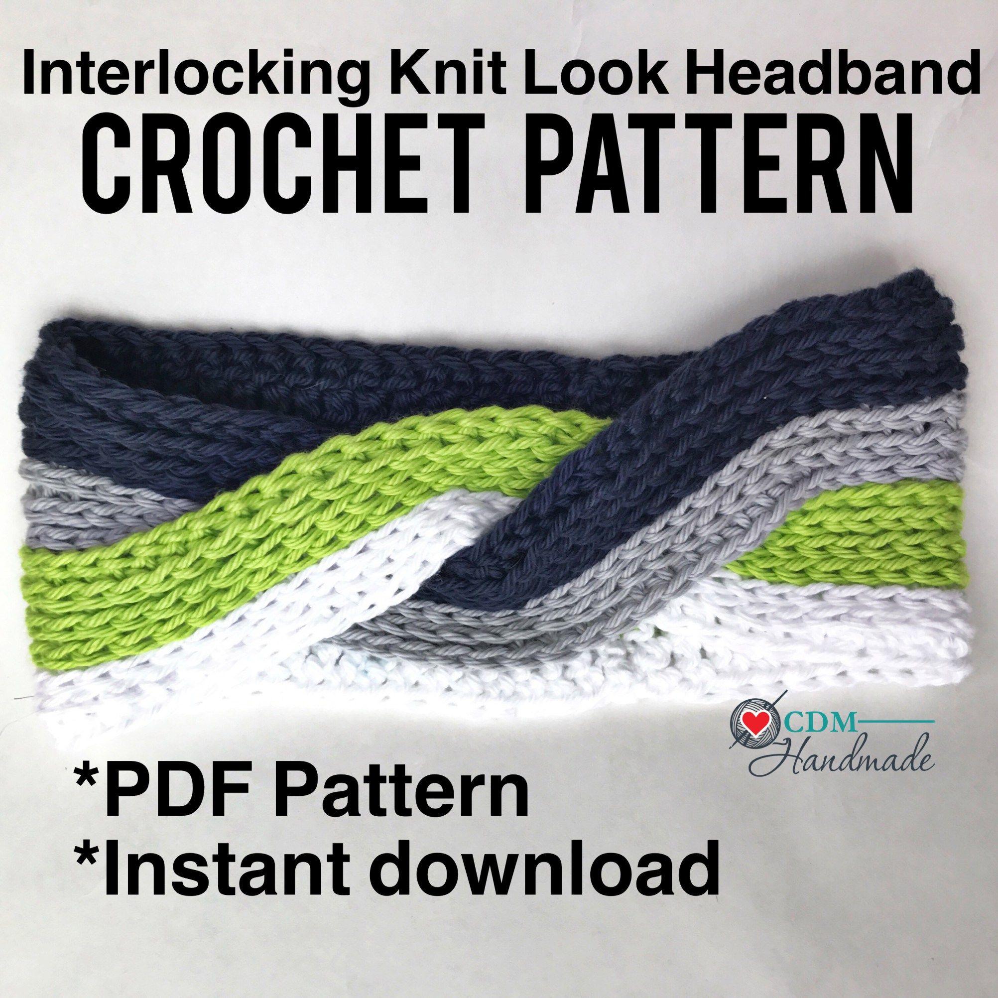 Interlocking Knit Look Headband Pattern | Crochet | Pinterest | Para ...