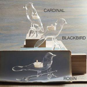 Roost Glass Bird Tealights