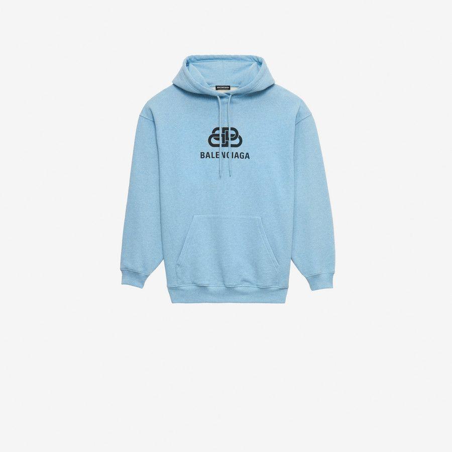 Balenciaga Bb Hoodie Baby Blue Organic Cotton Regular Fit 1 Kangaroo Pocket On Front Hood With Drawstring Bb Par Sweatshirts Sweatshirt Shirt Hoodies [ 900 x 900 Pixel ]