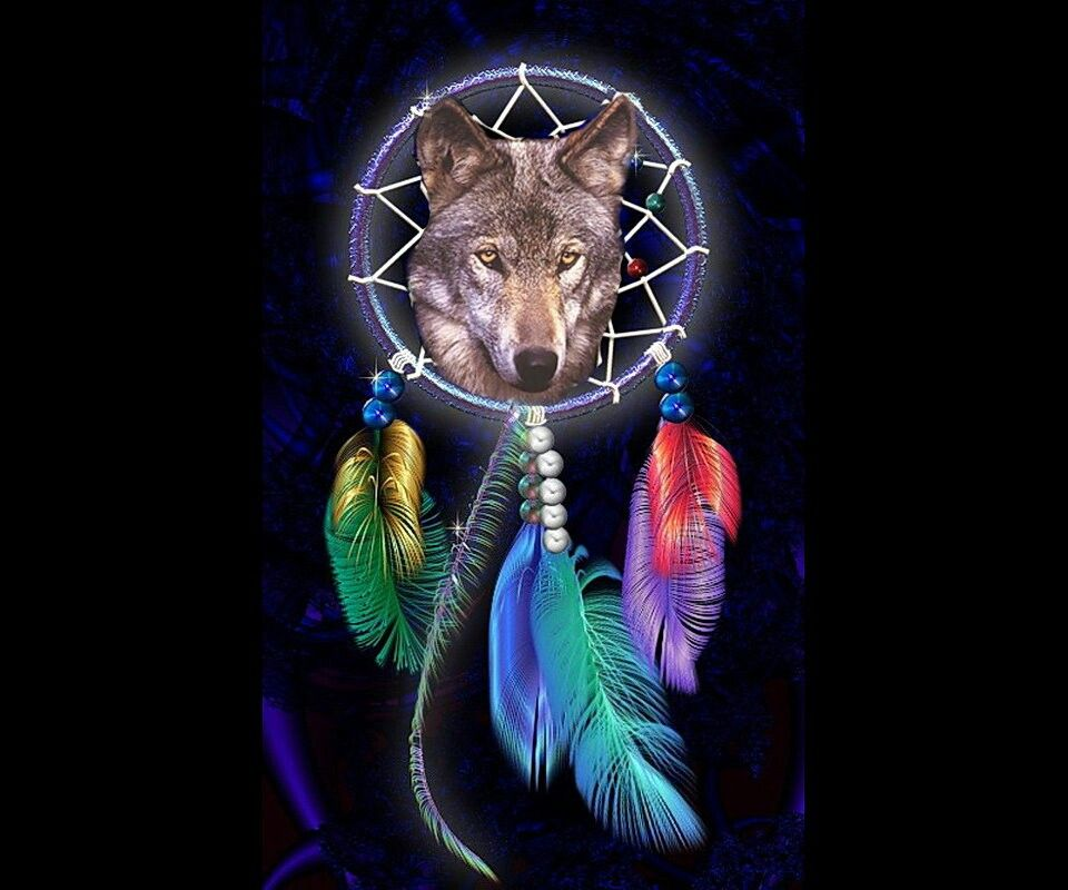 Wolf Iphone Wallpaper: Wolf And Dream Catcher Tattoo