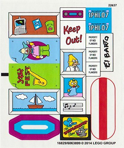 Genuine original replacement sticker sheet set for lego 71006 the simpsons house niftywarehouse