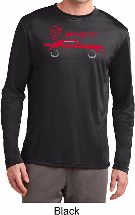 6756b0f9 Men's Dodge Challenger SRT Silhouette Men's Moisture Wicking Long Sleeve Tee  T-Shirt-21536E2-ST350LS