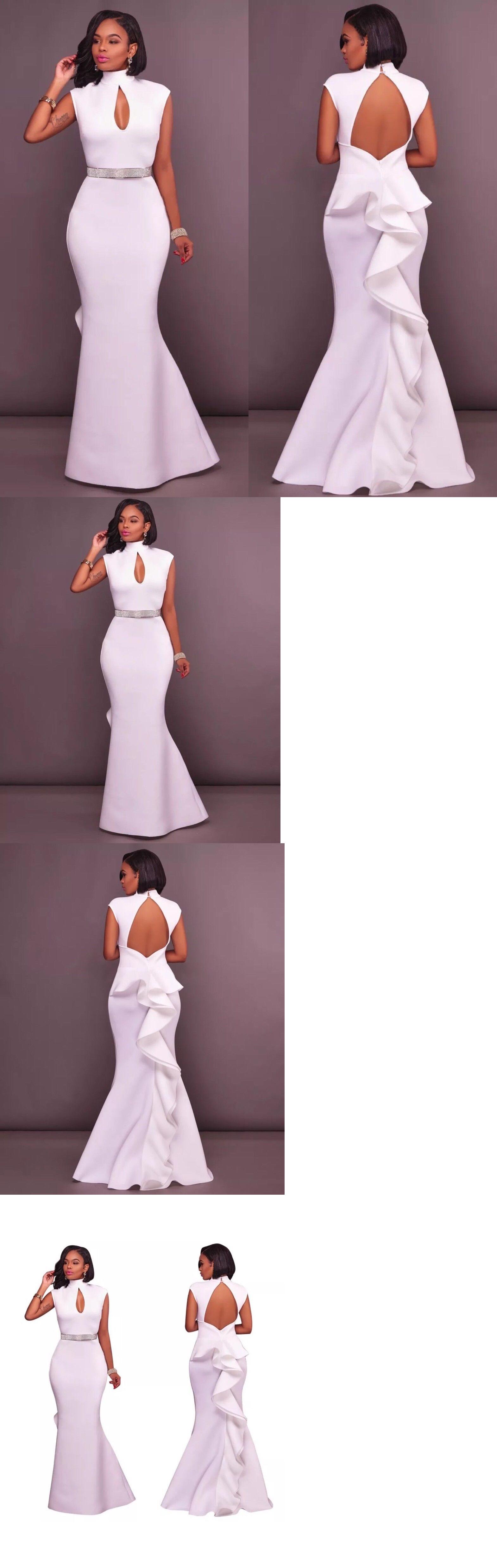 Dresses us women s high fashion cloak cocktail white long