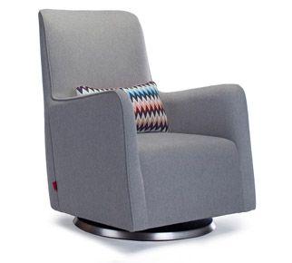 Grazia Swivel Glider Chair Modern Nursery Furniture By Monte Design