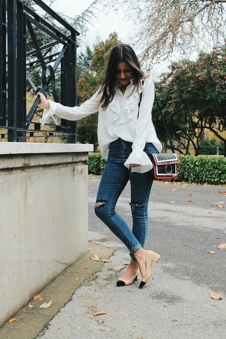 Blusa Zara Dama Ropa, Calzados y Accesorios Azul claro en