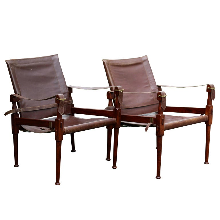1970 S M Hayat And Bros Ltd Rosewood And Leather Safari Chair Leather Lounge Chair Club Chairs