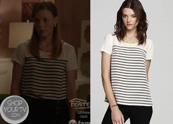 Shop Your Tv: Switched at Birth: Season 2 Episode 15 Daphne's Striped Embellished Top