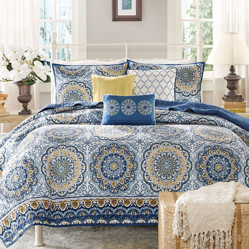 Madison Park Moraga 6 Pc Quilted Coverlet Set Duvet