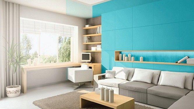 Quelles couleurs associer avec le bleu lagon ? | Salon bleu, Salon ...
