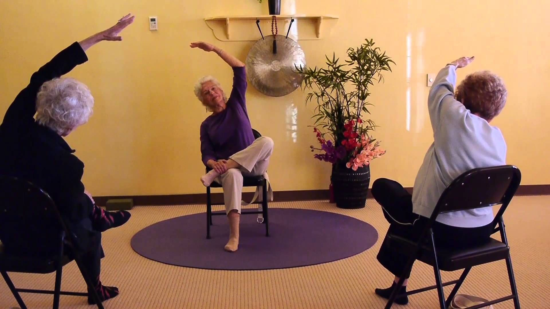Strong And Flexible Hips For Seniors Seated And Standing Chair Yoga Seq