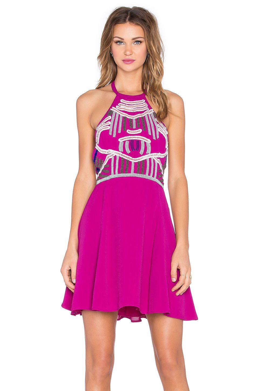 NBD x Naven Twins Flirty Girl Skater Dress in Berry | Virtual Closet ...