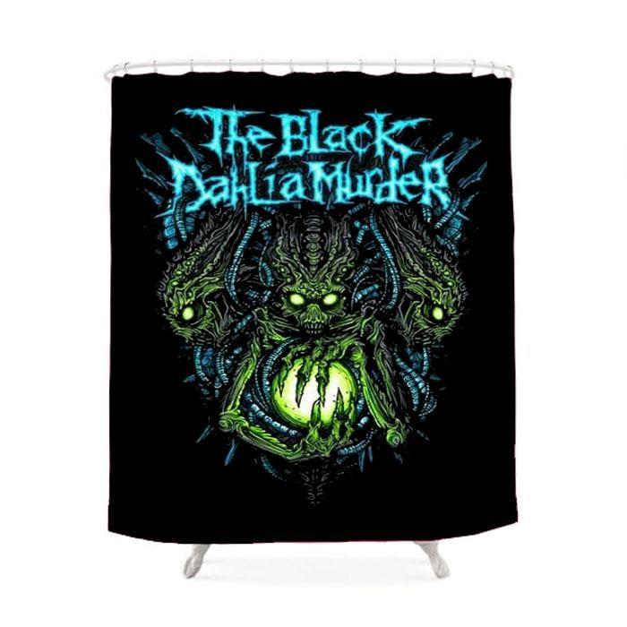The Black Dahlia Murder Art Alien Shower Curtain