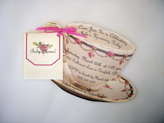 These are beautiful but quite pricey Teacup Invitation High Tea