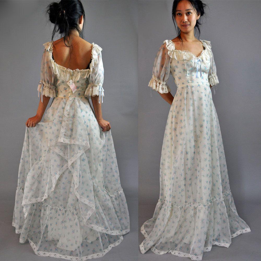 Vintage 70s Dress Sheer Maxi Party Dress Puff Sleeves Ruffle Etsy Vintage Dress 70s Maxi Dress Party Sheer Dress [ 1000 x 1000 Pixel ]