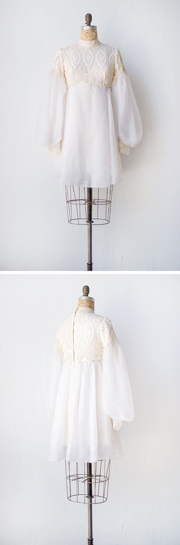 1960s inspired wedding dress