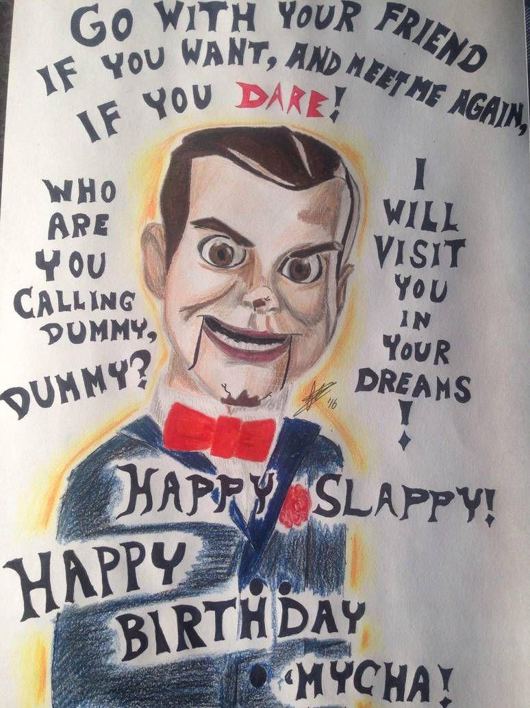 Slappy The Dummy By Fabienneduijkers On Deviantart Slappy The Dummy Childhood Art Goosebumps