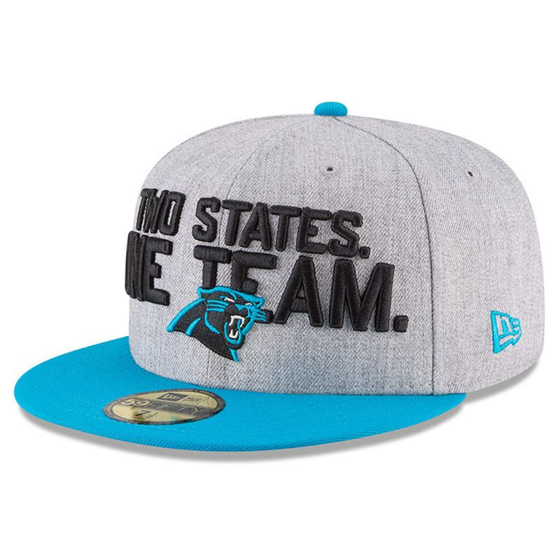 separation shoes a2e17 a769f Carolina Panthers New Era 2018 NFL Draft Official On-Stage 59FIFTY Fitted  Hat – Heather Gray Blue