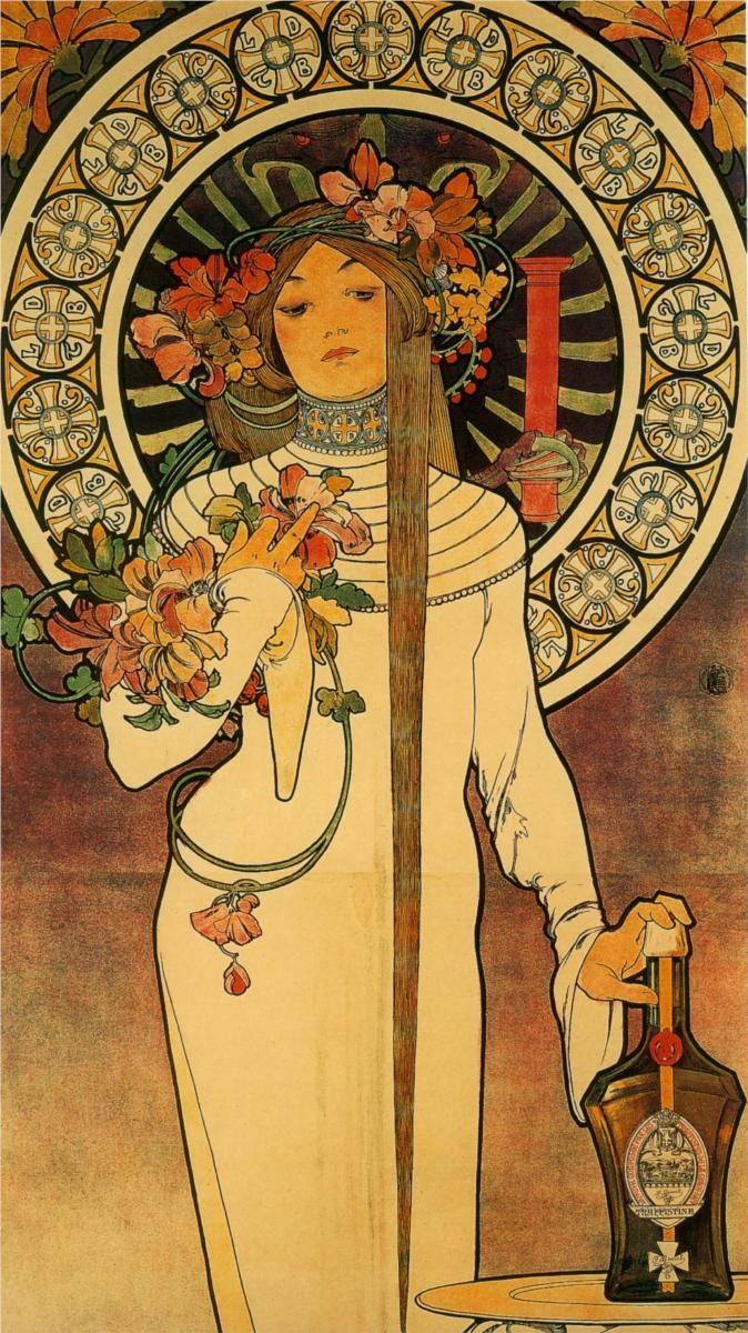 Mucha Art Nouveau Lady Produccion Artistica Artistas Arte