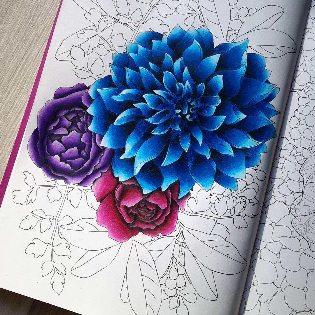 Colored Pencils For Grown Up Coloring Fleurs WIP with my Prismacolor pencils arttherapie