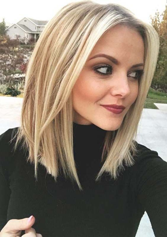 Explore The Beauty Of Modern And Celebrity Inspired Long Bob Hairstyles For Ladies With Blonde Hair Colors Bob I Long Bob Blonde Hair Styles Thick Hair Styles