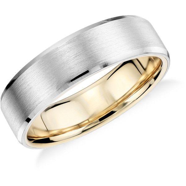 Blue Nile Brushed And Polished Wedding Ring 740 Liked On