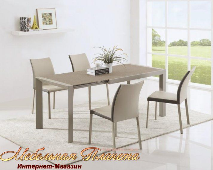 ARABIS 2 Стол обеденный размер 122-182х80х76 cm материал МДФ и ...