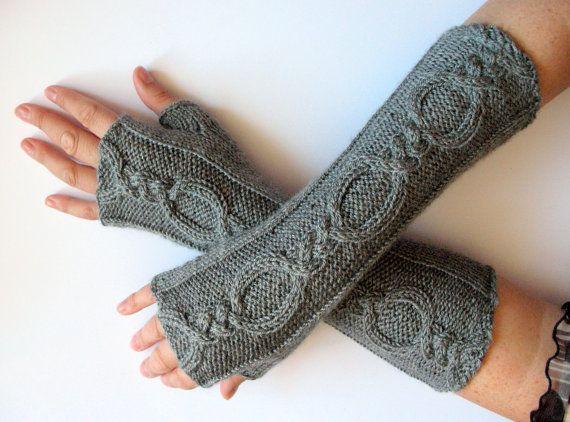 b8e12f35c soft yellow Hand knitted wrist warmers/fingerless gloves mohair blend