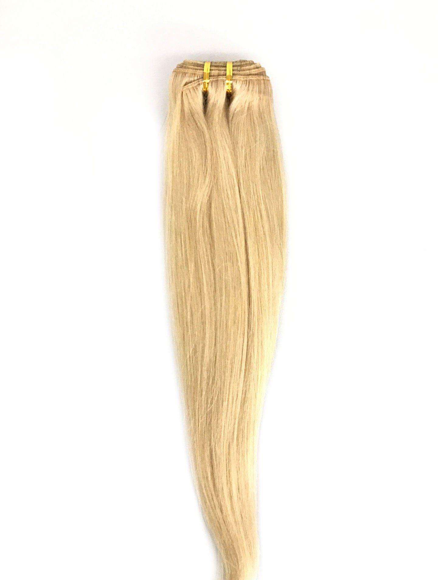 9a Malaysian Straight Human Hair Extension Platinum Blonde Human