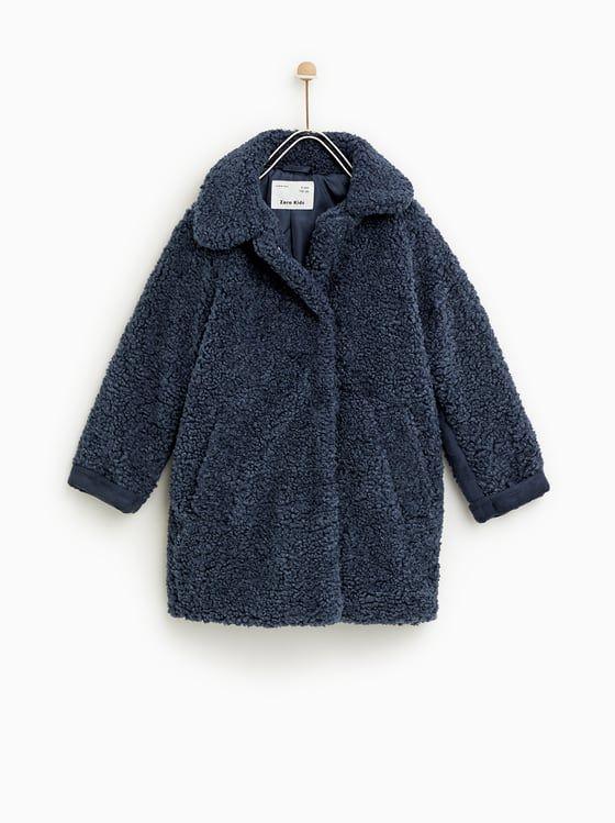 Zara Kids Faux Shearling Coat Kinder Wintermode Madchenmode Kind Mode
