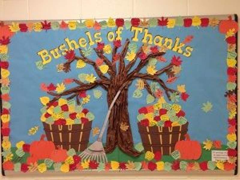 Unbelievably Cute Thanksgiving Bulletin Board Ideas You Ll Fall In Love With Thanksgiving Bulletin Boards Bulletin Board Tree Fall Bulletin Boards