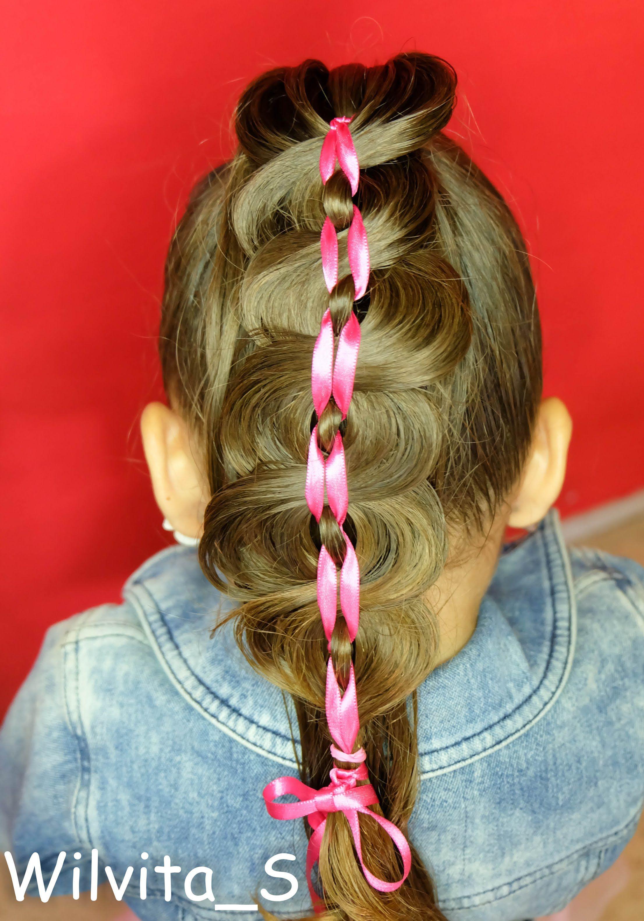 Peinado con listón para niña fácil easy harstyle for girls