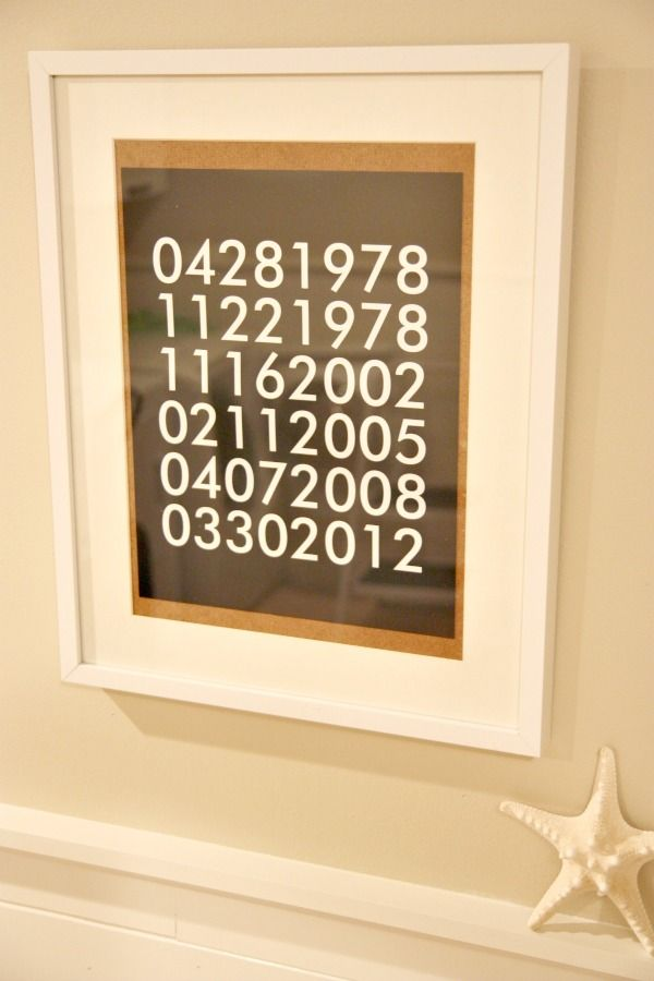 Amazing Special Dates Review On House*Tweaking | Signs By Andrea Reviews |  Pinterest | House Tweaking, House And Diy Wall Art