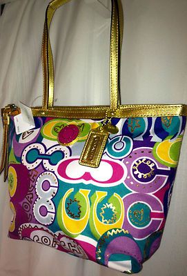 Coach Signature Tote Pop C Multi Colored Shoulder Bag New Super Fast Shipping Bags Upcoming 44 99
