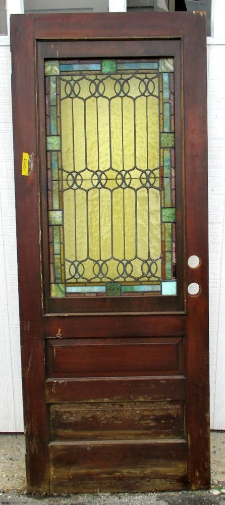 Antique American Stained Glass Door 3175 X 80 Architectural