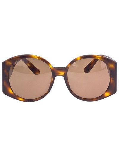 07dca0892c Chanel Large Brown Sunglasses with Gold CC