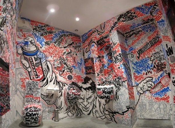 Bathroom Unique Graffiti Art Toilet Wc