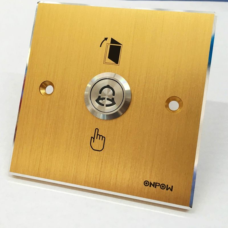 Onpow 86 86mm Aluminium Alloy Golden Panel With 19mm Push Button Switch Door Release Button Mj 1 19 Y Las1gq Do Cool Things To Buy Aluminium Alloy Doorbell