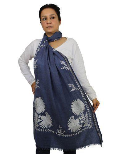 Wolle Schal für Frauen bestickte Zubehör indische Kleidung ShalinIndia http://www.amazon.de/dp/B00JWIVR30/ref=cm_sw_r_pi_dp_hFg5tb08WM9JJ