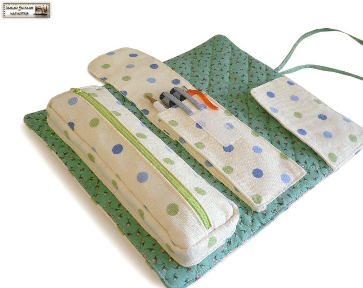 Roll organizer sewing pattern/tutorial, makeup bag pattern ...