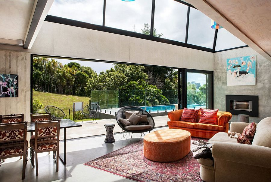 industrial ingenuity: contemporary auckland home in concrete, steel