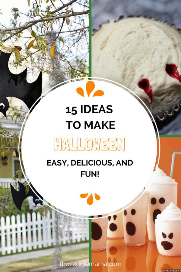 15 Ideas to Make Halloween Easy, Delicious, and Fun Halloween - halloween food decoration