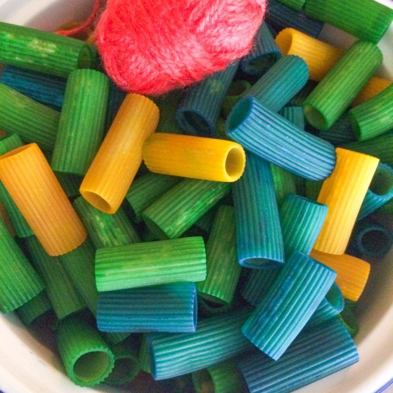 Back To School Sensory Bin With Colored Pasta Sensory Bins Kids