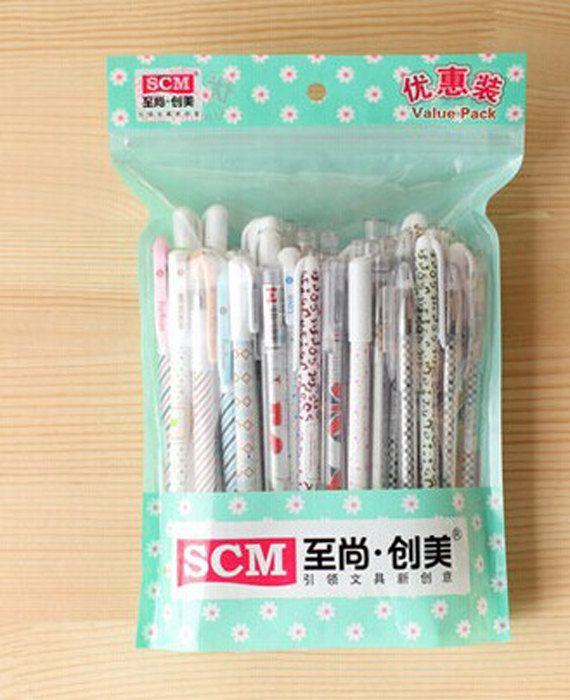 Set of 50pcs gel pens for drawing, scrapbook, writing, sign
