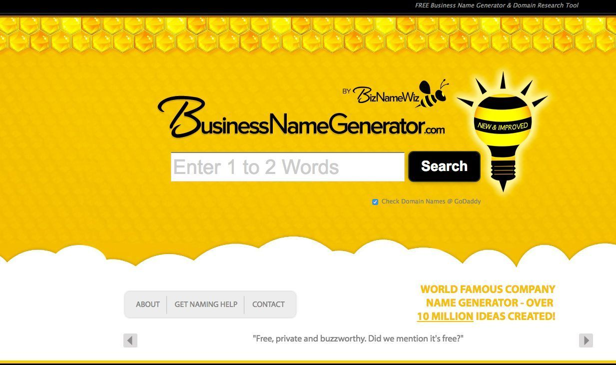 10 Awesome Free Business Name Generators Name generator