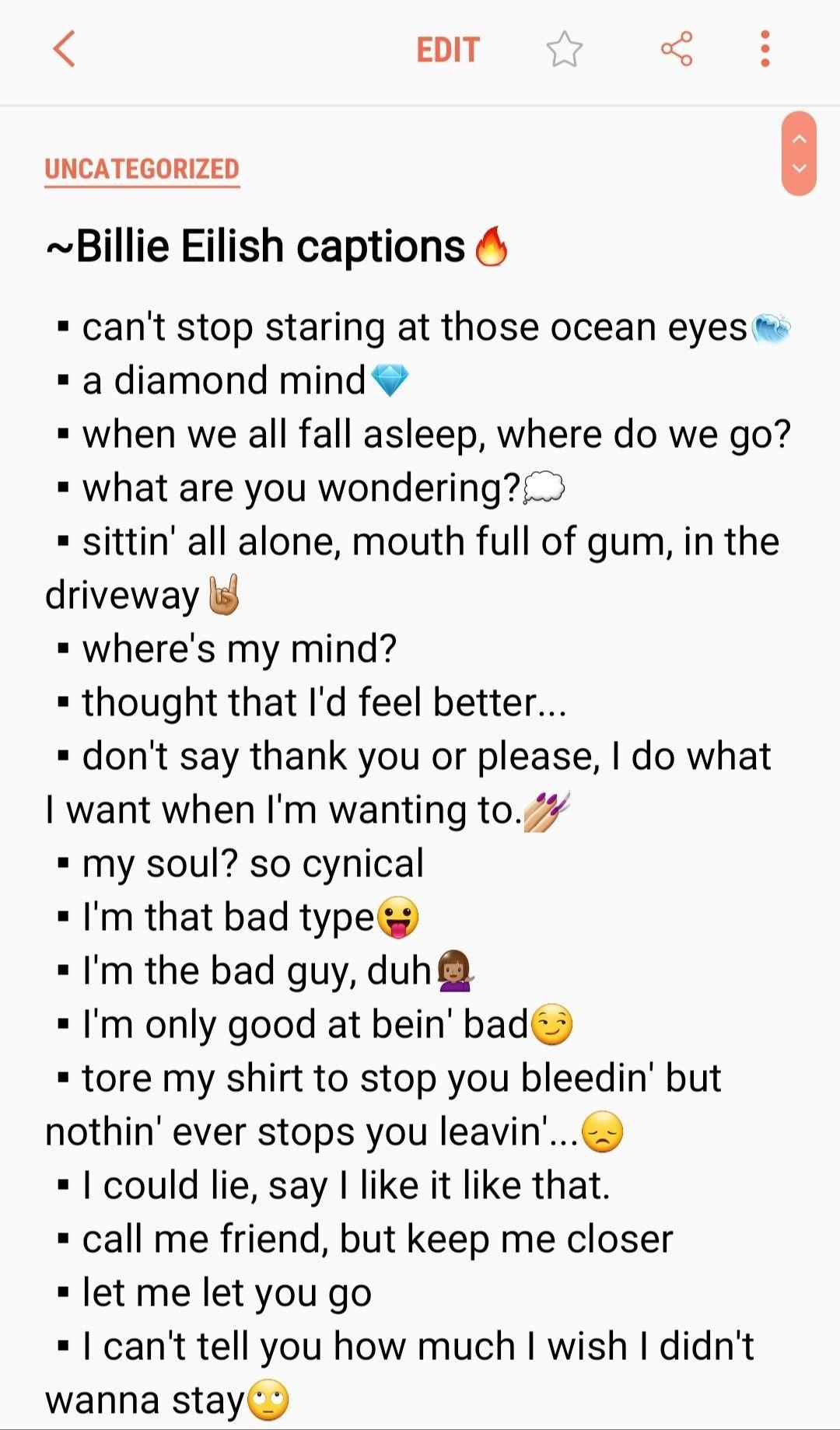 Instagram Captions Lyrics In 2020 Instagram Quotes Captions Instagram Captions For Selfies Instagram Captions For Friends