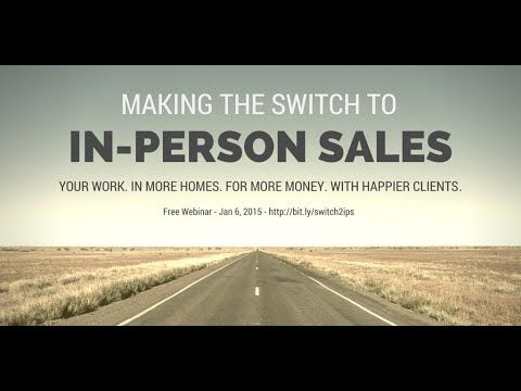 Making the Switch to In-Person Sales | Salesographer Webinar
