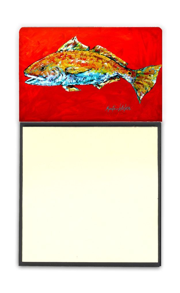 Fish - Red Fish Red Head Refiillable Sticky Note Holder or Postit Note Dispenser MW1111SN