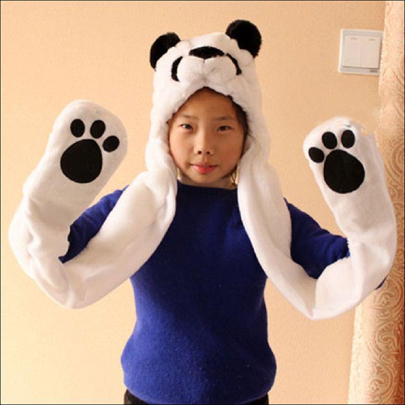 2017 Nueva Moda Gorros Animal Lindo Oso Panda De Dibujos Animados