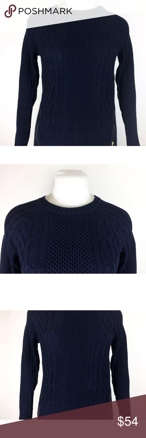 Cabi Navy Blue Sweater Style #899 Zipper Pullover Cabi Navy Blue ...